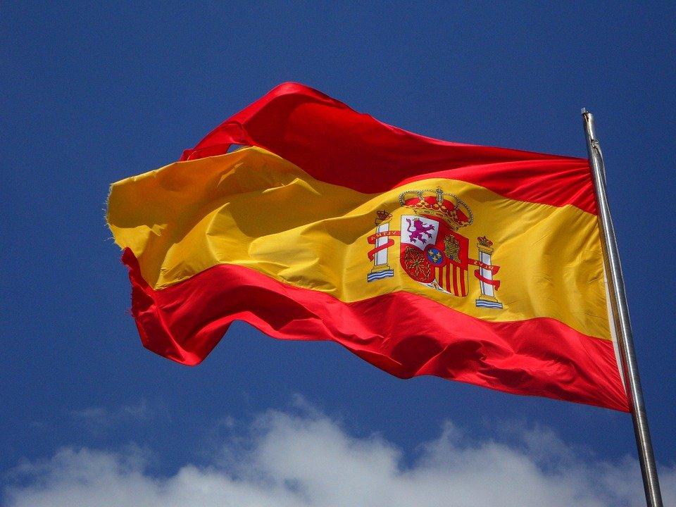 Espagne, Drapeau, Battement, Espagnol, Cabrera, Vent