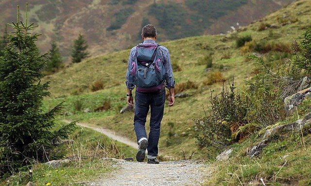 alpinisme, l'homme, sentier