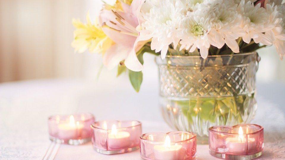 Fleurs, Saint Valentin, Coeur, Bougies, L'Amour