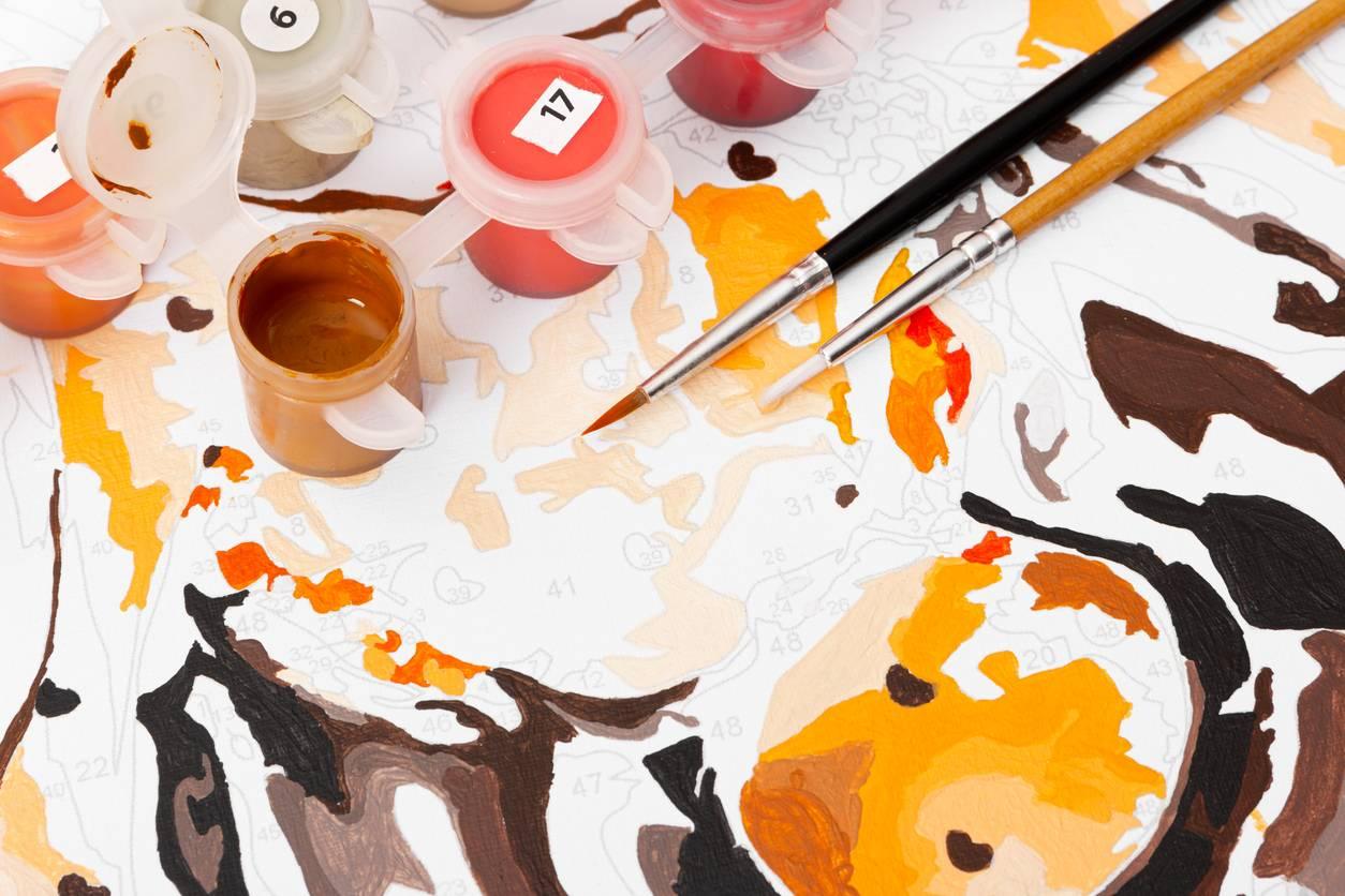 peinture par numéros, art thérapie